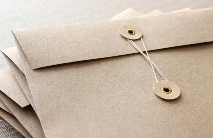 String & Button Envelope